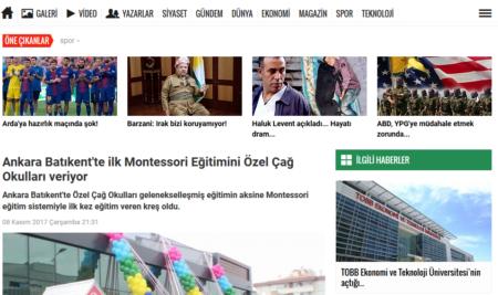Ankara Batıkent'de İlk Montessori Eğitimini Özel Çağ Okulları veriyor